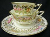 SOLD Etruscan shaped tea & coffee trio